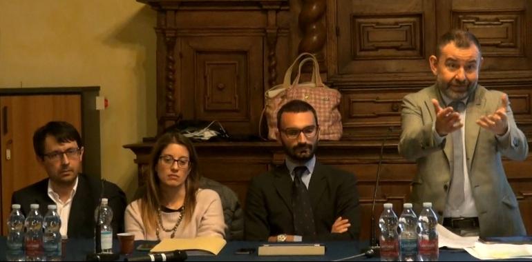Il tavolo dei relatori: Lusardi, Cervieri, Borsieri, Moro