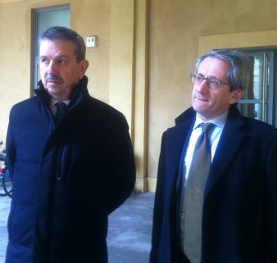 Gli avvocati Nerio Diodà (a sinistra) e Corrado Limentani