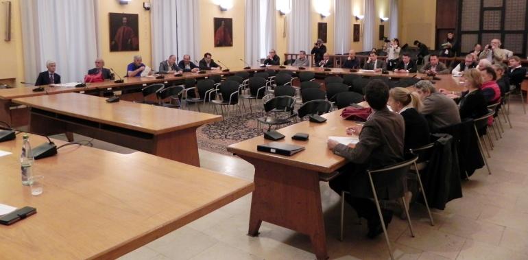I sindaci presenti all'incontro