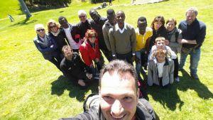 i parrocchiani in gita con i migranti