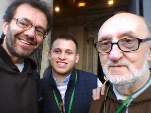 Frate Giuseppe, un parrocchiano e frate Aligi