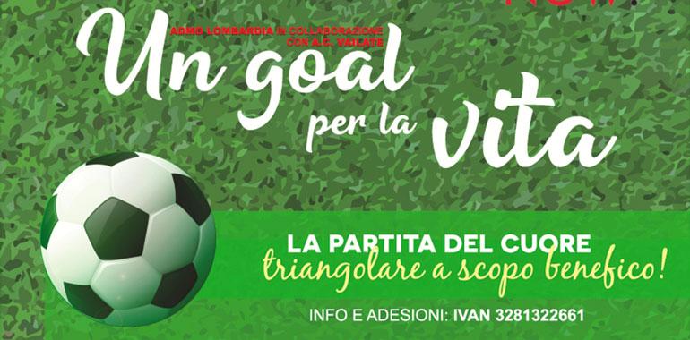 Il 28 settembre a Vailate 'Un <br /> goal per la vita', triangolare <br /> benefico di calcio... - CremaOggi.it